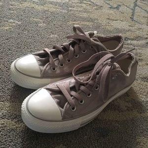 Lavender Converse Low Top Sneakers
